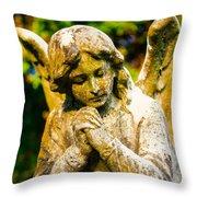 Memphis Elmwood Cemetery - Praying Angel Throw Pillow
