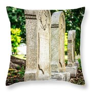Memphis Elmwood Cemetery Monument - Four In A Row Throw Pillow