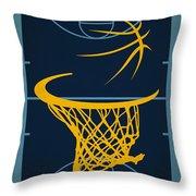 Memphis Grizzlies Court Throw Pillow