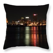 Memphis Tn Skyline At Night Throw Pillow