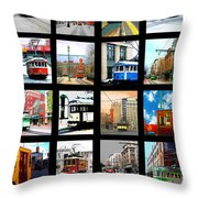 Memphis Trolleys Throw Pillow