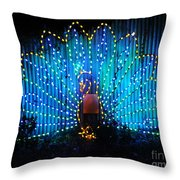 Memphis Zoo Lights Throw Pillow