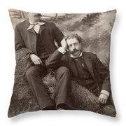Men, 19th Century Throw Pillow