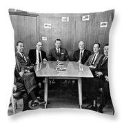 Men At A Business Meeting Throw Pillow