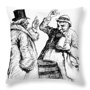 Men Drinking, 1900 Throw Pillow