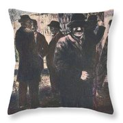 Men In Yellow Light Throw Pillow