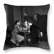Men Smoking Throw Pillow