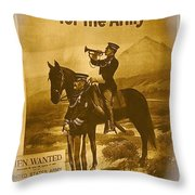 Men Wanted For The Army Poster No Date Ghost Town South Pass City Wyoming 1971 Vignetted Toned 2008 Throw Pillow
