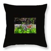 Menacing Mouth Throw Pillow