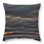 Menacing Skies Throw Pillow