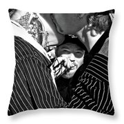 Menage A Trois Throw Pillow
