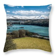 Menai Bridge 1819 Throw Pillow
