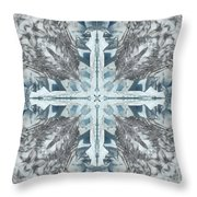 Mendenhall Glacier Cross Throw Pillow