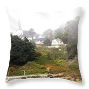 Mendocino Ca Church Throw Pillow