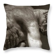 Menelaus Supporting The Body Of Patroclus Throw Pillow