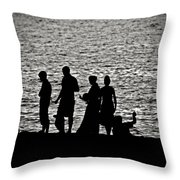 Mennonite Sunset Throw Pillow