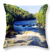 Menominee River At Piers Gorge, Upper Throw Pillow