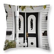 Menomonee Street Old Town Chicago Throw Pillow