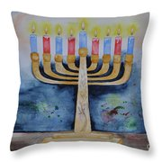 Menorah Throw Pillow