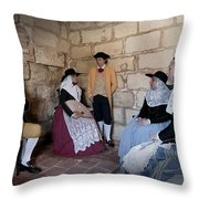 Menorquins Dress And Suit  Back In Time Xviii Century Throw Pillow