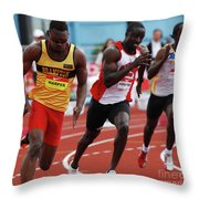 Mens 200 Meter Throw Pillow