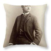 Men's Fashion, 1885 Throw Pillow