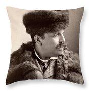 Men's Fashion, 1890s Throw Pillow