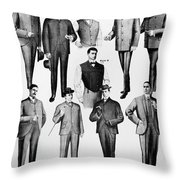 Men's Fashion, 1902 Throw Pillow