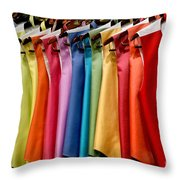 Mens Tuxedo Vests In A Rainbow Of Colors Throw Pillow
