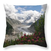 Mer De Glace - Sea Of Ice Throw Pillow by Camilla Brattemark