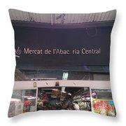 Mercat De L'abac Throw Pillow