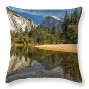 Merced River View I Throw Pillow