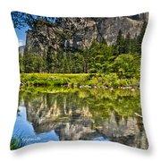 Merced River Yosmite Throw Pillow
