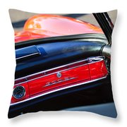 Mercedes 300 Sl Dashboard Emblem Throw Pillow