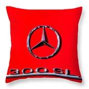 Mercedes 300 Sl Emblem -0121c Throw Pillow