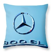 Mercedes 300 Sl Emblem -0190c Throw Pillow