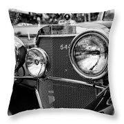 Mercedes 544k Grille - Bw Throw Pillow