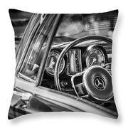 Mercedes-benz 250 Se Steering Wheel Emblem Throw Pillow