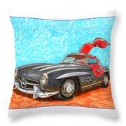 Mercedes  Benz 300 S L Gull Wing Throw Pillow