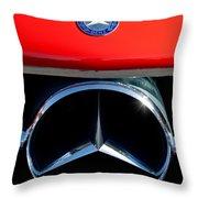 Mercedes-benz 300 Sl Grille Emblem Throw Pillow