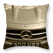 Mercedes Benz 300 Sl Roadster 1957 Throw Pillow
