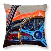 Mercedes-benz 300 Sl Steering Wheel Emblem Throw Pillow