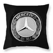 Mercedes-benz 6.3 Gullwing Emblem Throw Pillow