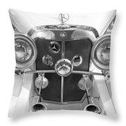 Mercedes Benz - Bw Throw Pillow
