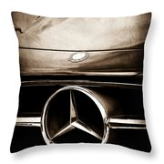 Mercedes-benz Grille Emblem Throw Pillow
