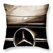 Mercedes-benz Grille Emblem Throw Pillow