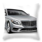 Mercedes-benz S550 4matic Luxury Car Throw Pillow