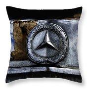 Mercedes Benz Shabby Chic Throw Pillow