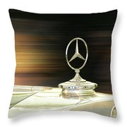 Mercedes Hood Ornament Throw Pillow