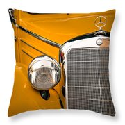 Mercedes Retro Throw Pillow